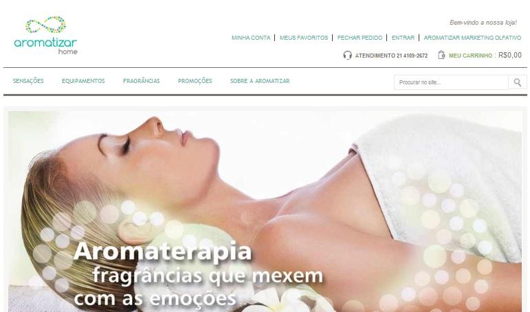 Aromatizar lança loja virtual